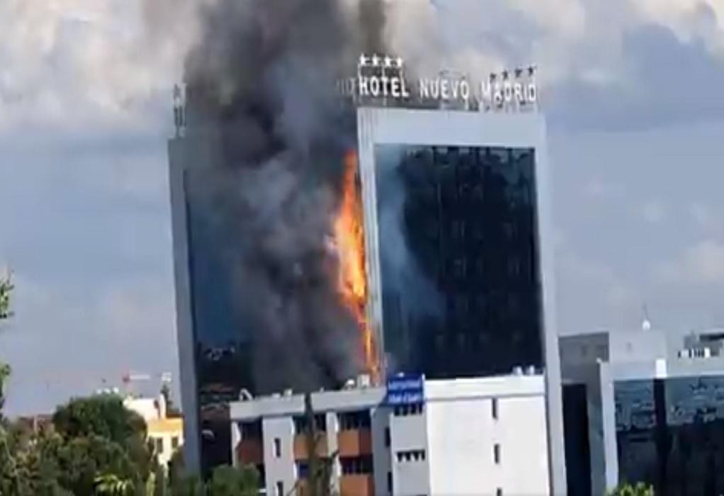 Μαδρίτη: Σε φλόγες τυλίχθηκε μεγάλο ξενοδοχείο (ΦΩΤΟ)