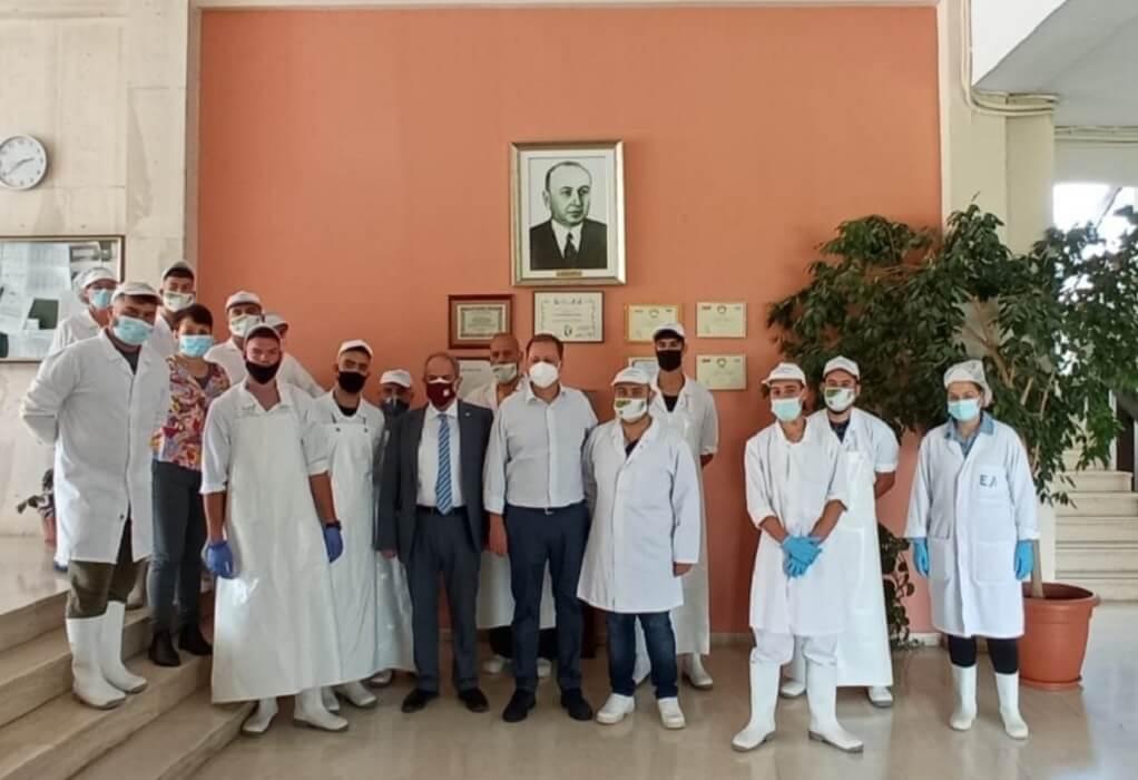 Επίσκεψη Σπήλιου Λιβανού στην Γαλακτοκομική Σχολή Ιωαννίνων