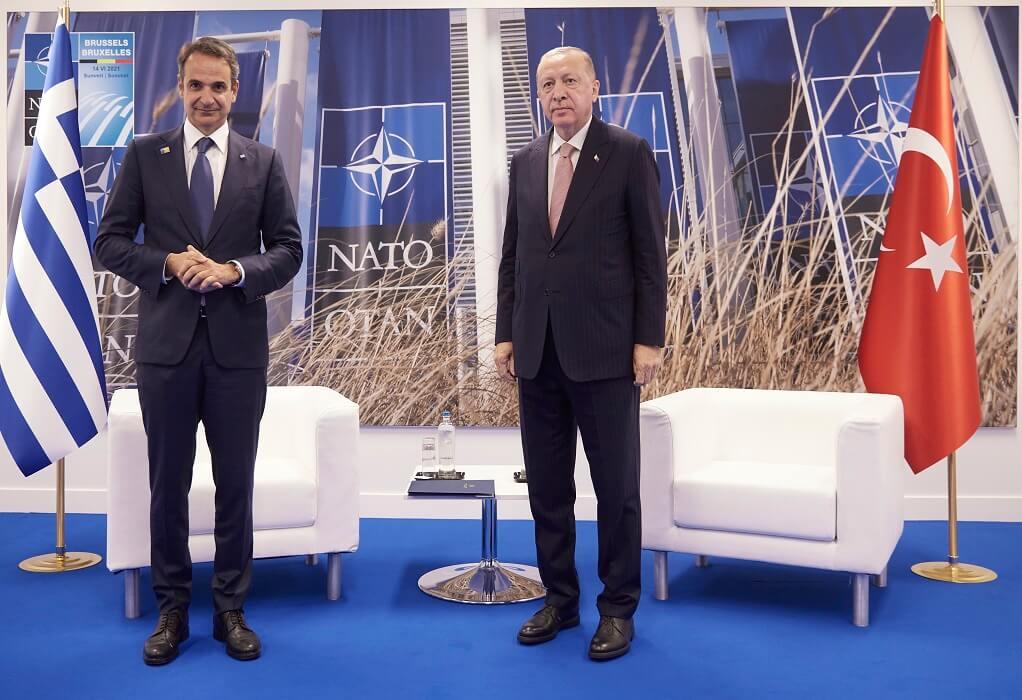 Θετικό το κλίμα στη συνάντηση Μητσοτάκη με τον Πρόεδρο Ερντογάν