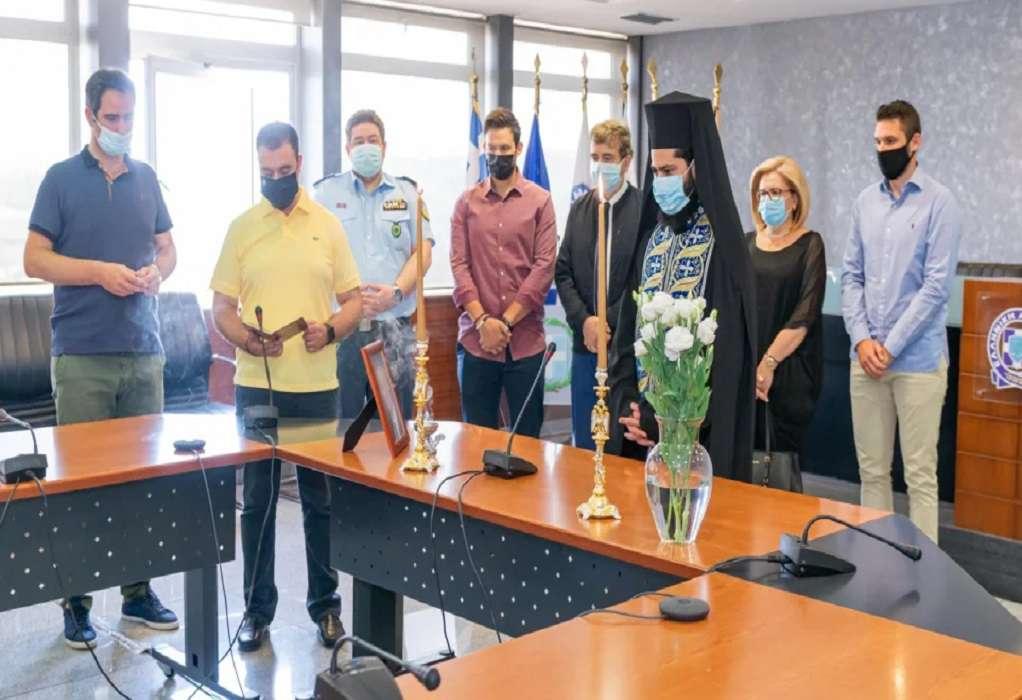 Τρισάγιο στη μνήμη του θύματος τρομοκρατίας, Ταξίαρχου, Γιώργου Βασιλάκη