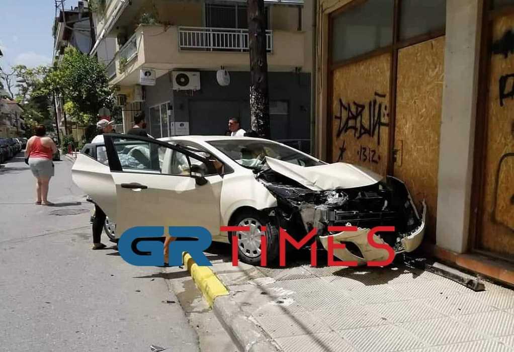 Σύγκρουση οχημάτων στο κέντρο της Κατερίνης (ΦΩΤΟ)