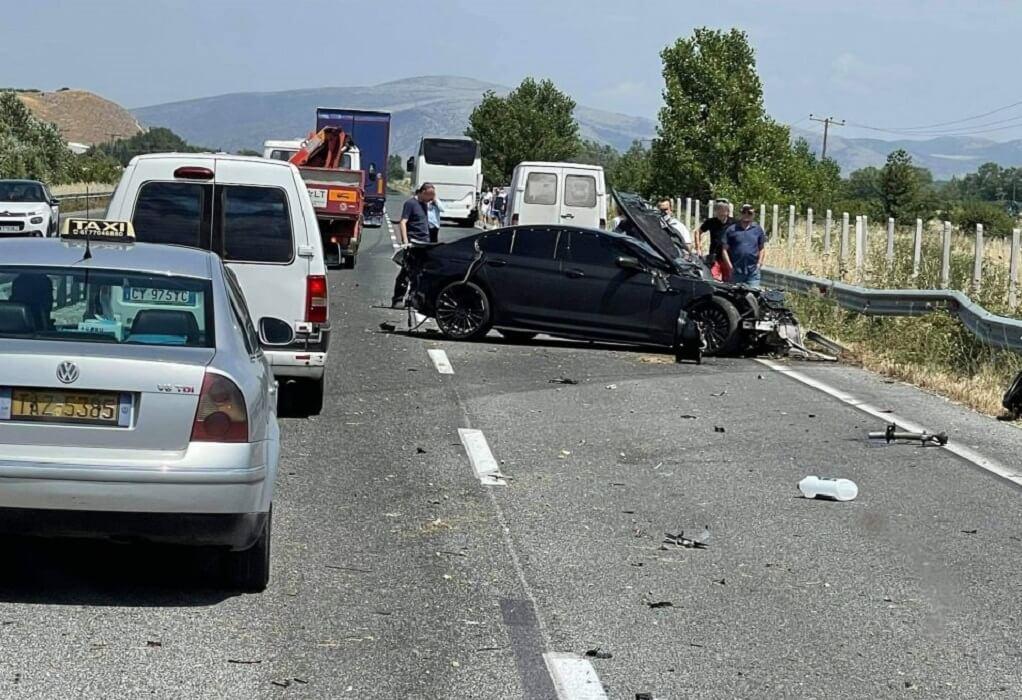 Τροχαίο ατύχημα στην Εθνική Οδό Τρικάλων-Λαρίσης