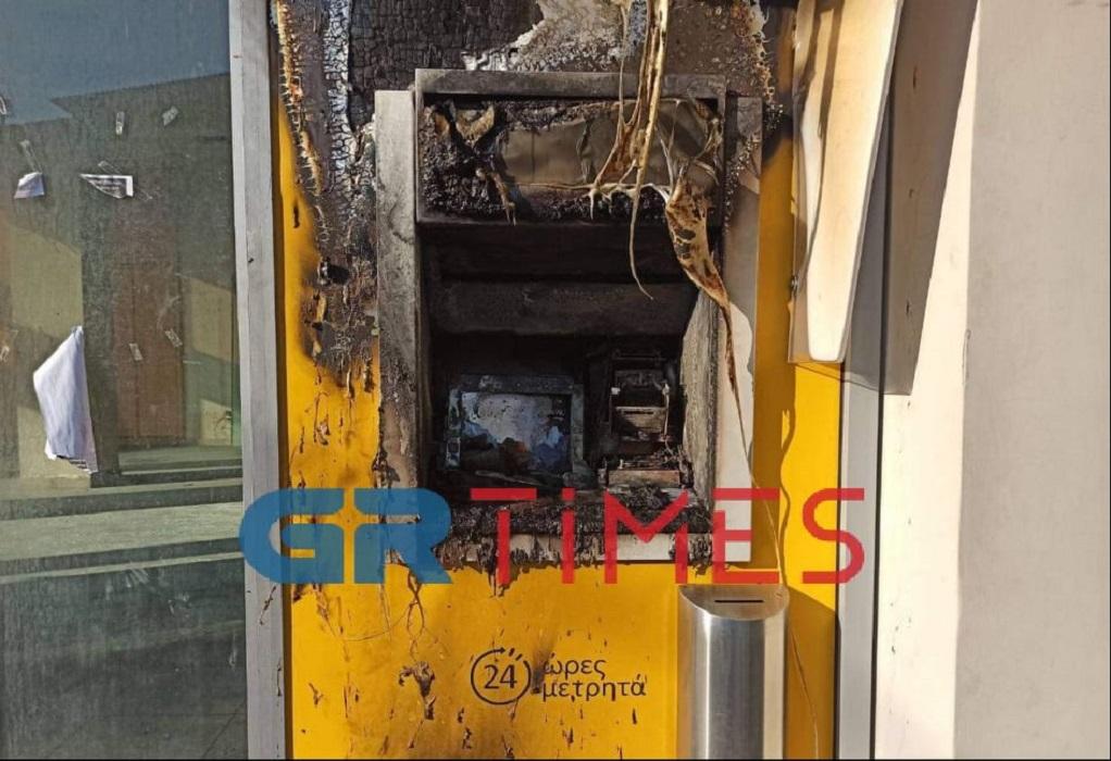 Θεσσαλονίκη: Διάρρηξη & φωτιά σε ΑΤΜ τα ξημερώματα (ΦΩΤΟ)