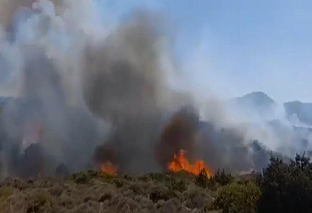 Φωτιά στην Πάρο: Ενισχύονται οι δυνάμεις της Πυροσβεστικής – Κοντά σε σπίτια οι φλόγες