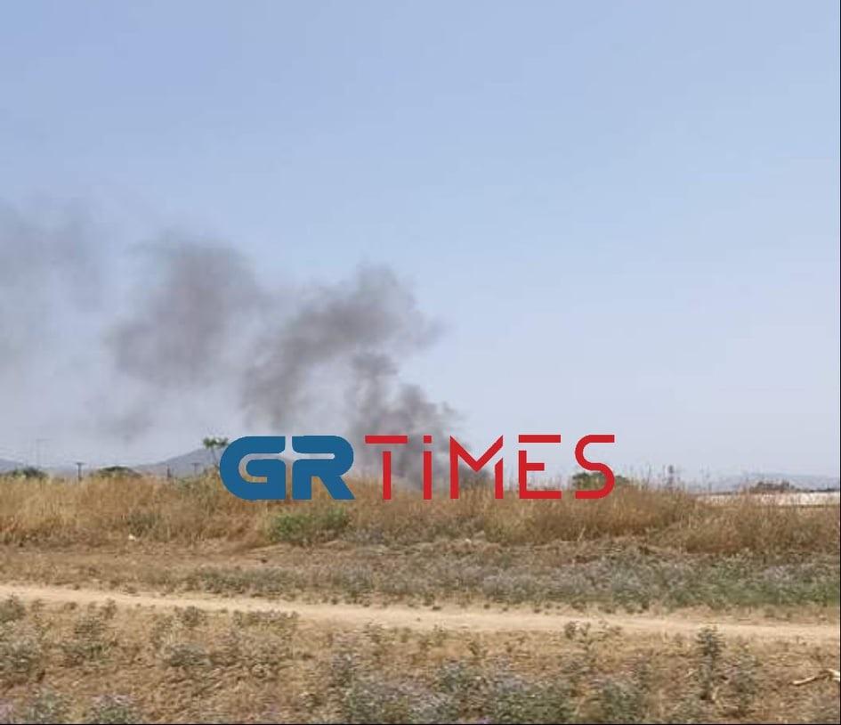 Θεσσαλονίκη: Φωτιά σε ξερά χόρτα στον Λαγκαδά