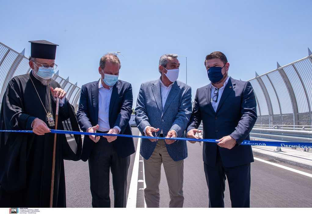 Ρόδος: Εγκαινιάστηκε η νέα γέφυρα του ποταμού Μάκκαρη, παρουσία Καραμανλή-Χαρδαλιά