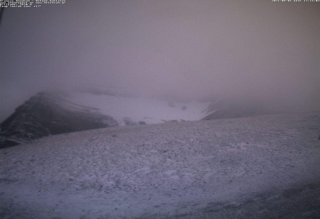 Τι και αν μπήκε ο Ιούνιος! Χιόνισε στον Όλυμπο (VIDEO)