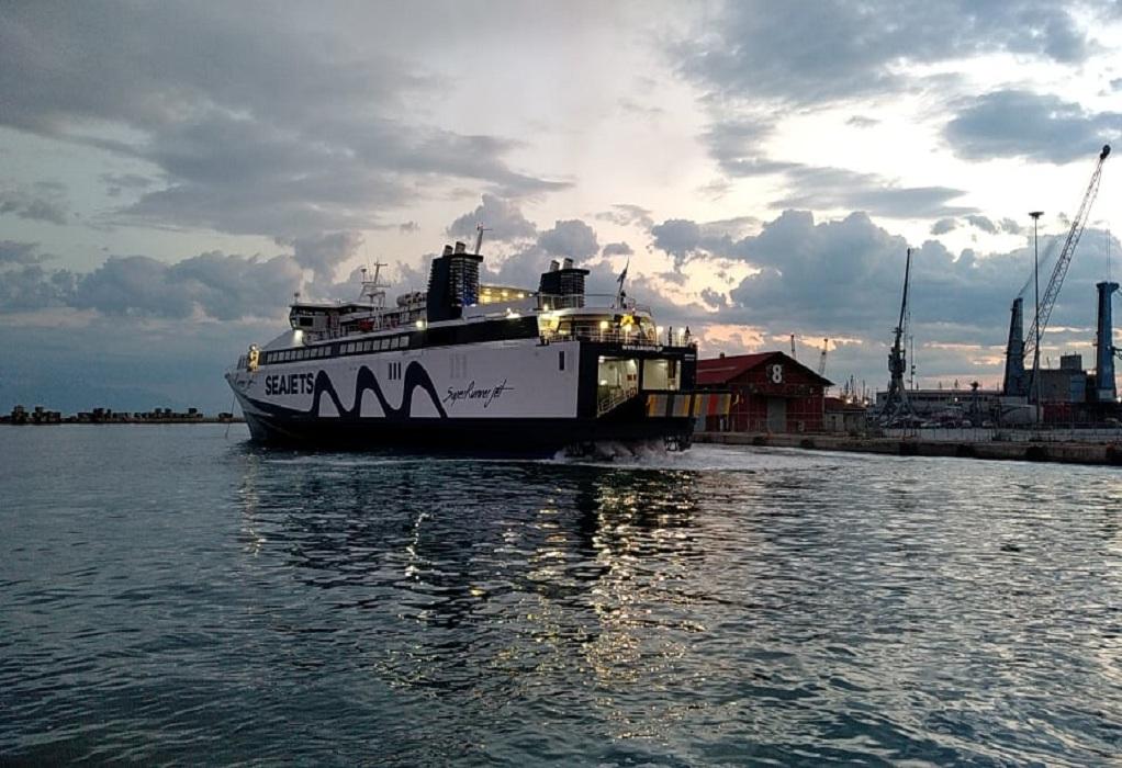 Άφιξη του Super Runner Jet στο λιμάνι της Θεσσαλονίκης (ΦΩΤΟ-VIDEO)
