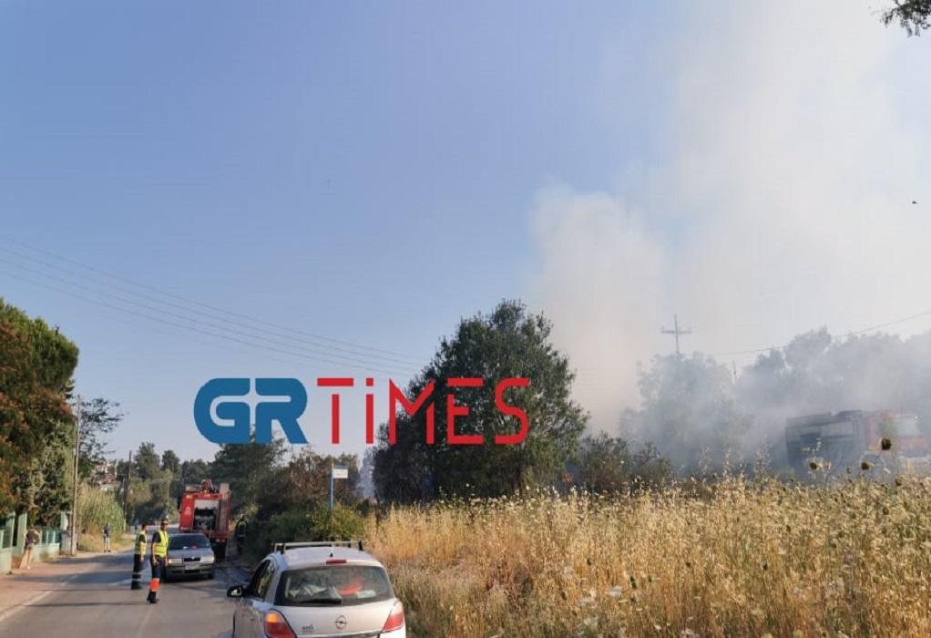 Θεσσαλονίκη: Οριοθετήθηκε η φωτιά στο Πλαγιάρι