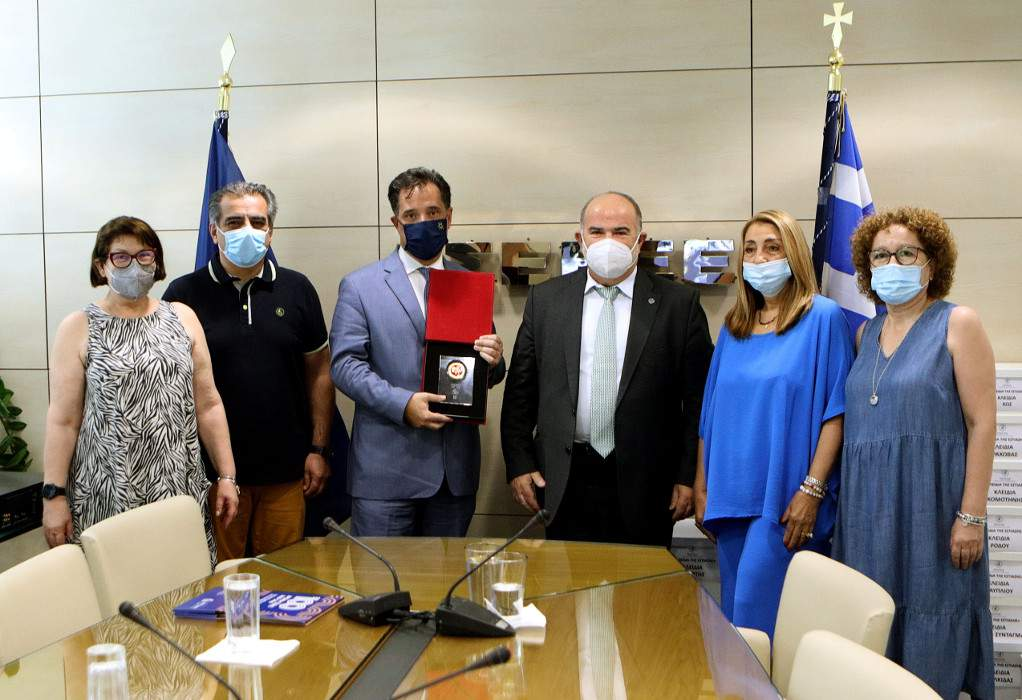 Επίσκεψη του  Άδωνι Γεωργιάδη στη ΓΣΕΒΕΕ