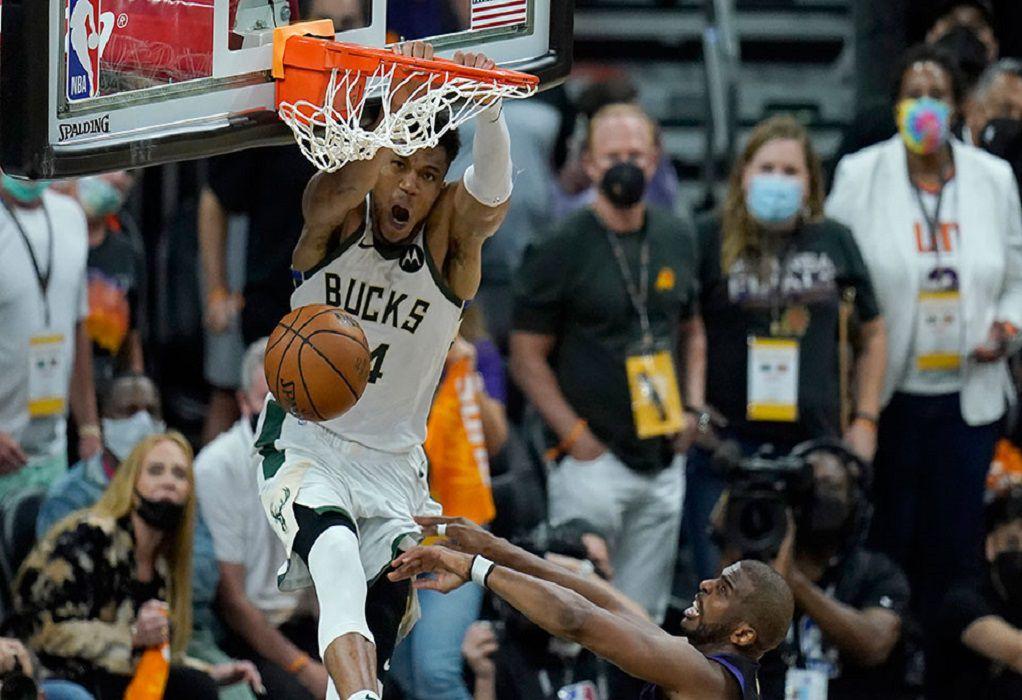 Τελικοί NBA: Τεράστια νίκη των Μπακς στο Φοίνιξ – Μια νίκη μακριά από το πρωτάθλημα