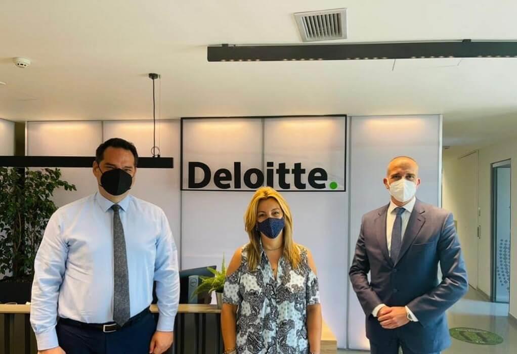 Η Μαρία Αντωνίου επισκέφτηκε τις εγκαταστάσεις της Deloitte
