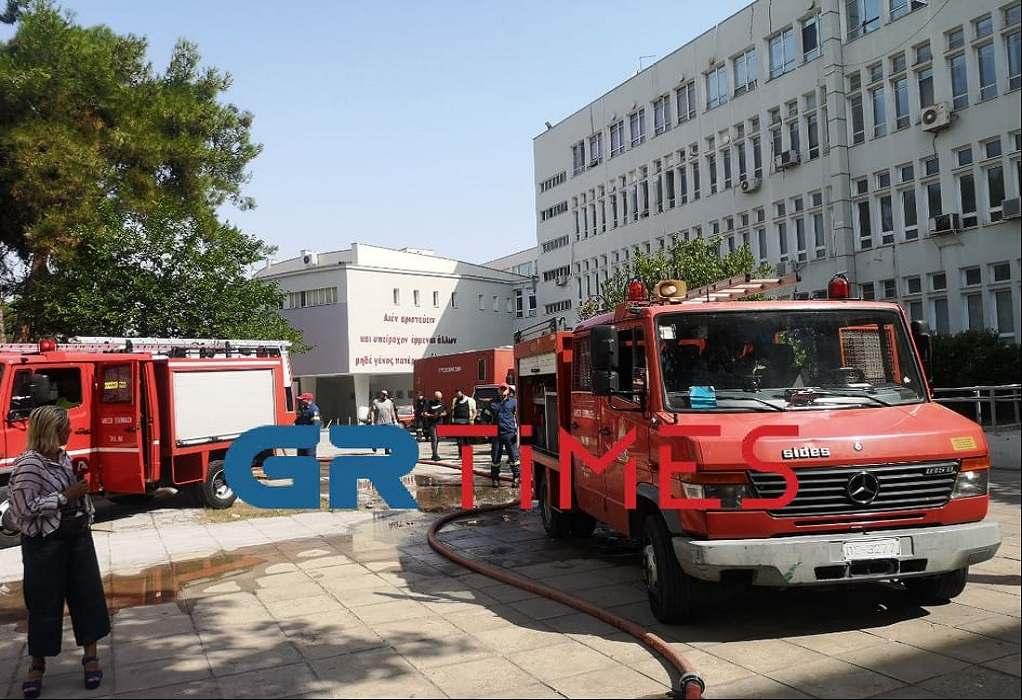 Θεσσαλονίκη: Φωτιά στο κτήριο της Ιατρικής Σχολής του ΑΠΘ (VIDEO)