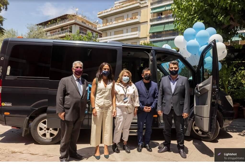 Παραδόθηκε και δεύτερο mini van δωρεά στο Άσυλο Ανιάτων