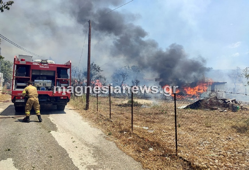 Βόλος: Φωτιά στο Φυτόκο και στο Παλιούρι – Εκκενώθηκαν σπίτια