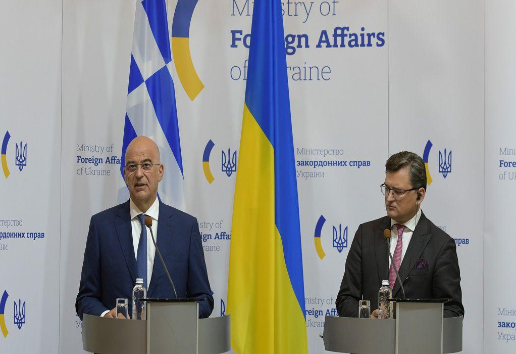 Δένδιας: Βασική αρχή για ενίσχυση των σχέσεων Ελλάδας – Ουκρανίας η αυστηρή προσήλωση στο Διεθνές Δίκαιο