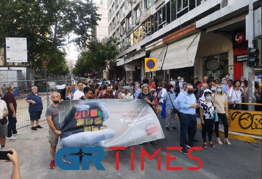 Μετρό Θεσσαλονίκης: Διαμαρτυρία για την απόσπαση των αρχαιοτήτων στο σταθμό Βενιζέλου (VIDEO)