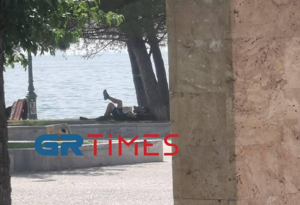 Καμίνι η Θεσ/νίκη: Άφησαν τον περίπατο και αναζητούν σκιά – Μέριμνα του δήμου για αδέσποτα (ΦΩΤΟ)