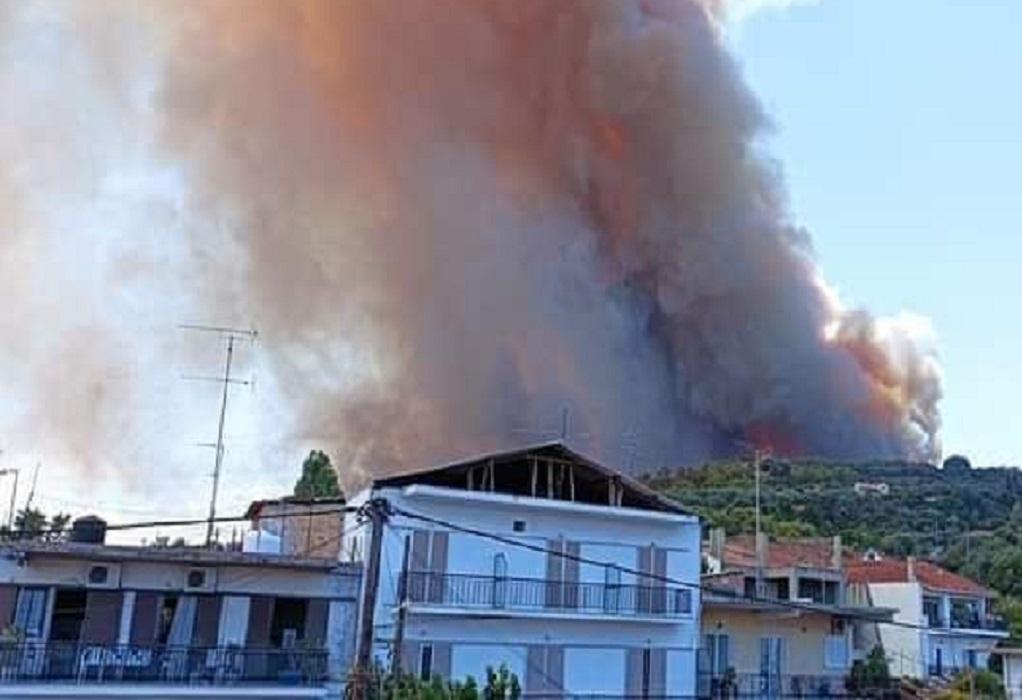 Πυρκαγιά στα Ζήρια Αχαΐας: Εκκενώνονται 4 οικισμοί με εντολή του 112- Κλειστές οι ΕΟ Πατρών-Κορίνθου (ΦΩΤΟ-VIDEO)