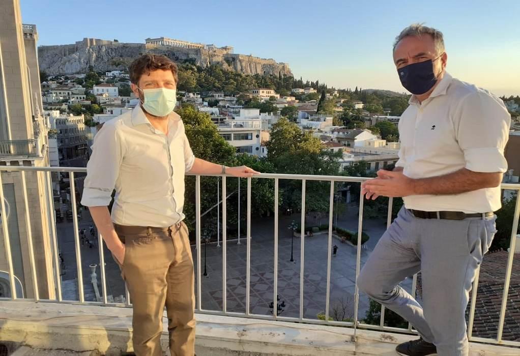 Καλαφάτης: Συνάντηση με τον υφυπουργό Πολιτισμού στην Αθήνα