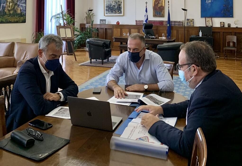 Συνάντηση του Σταύρου Καλαφάτη με τον Κωνσταντίνο Ζέρβα
