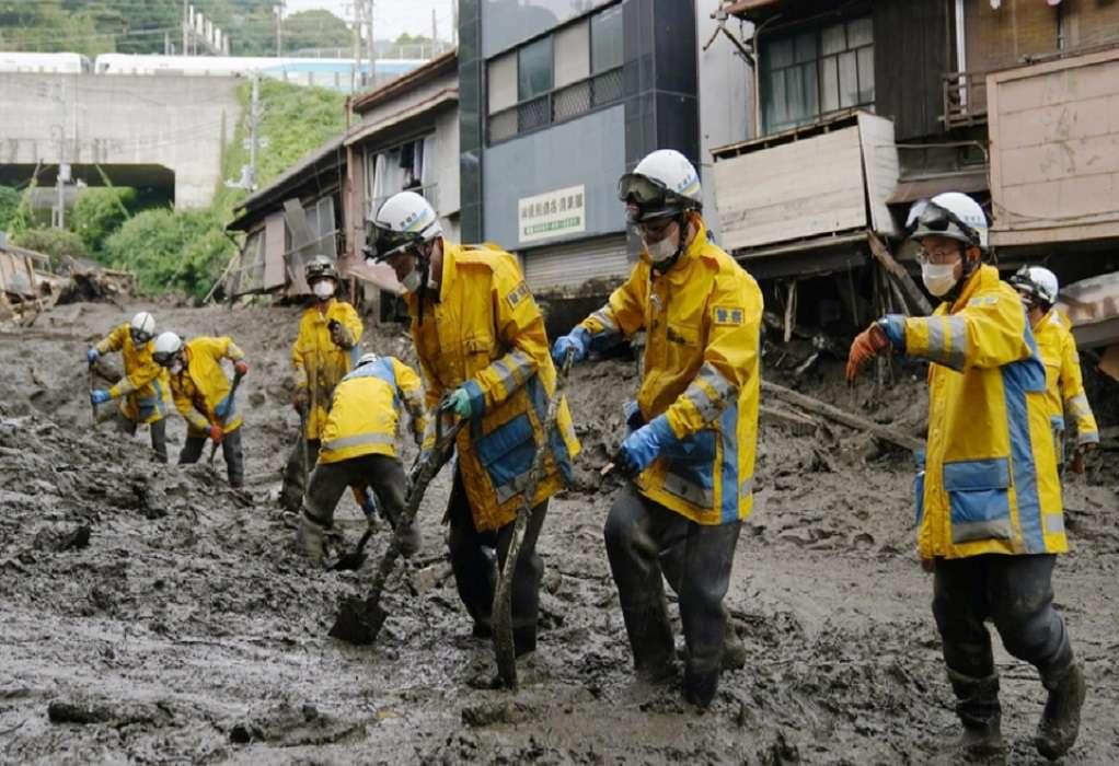 Κατολίσθηση λάσπης στην Ιαπωνία: Τέσσερις νεκροί και τουλάχιστον 64 αγνοούμενοι