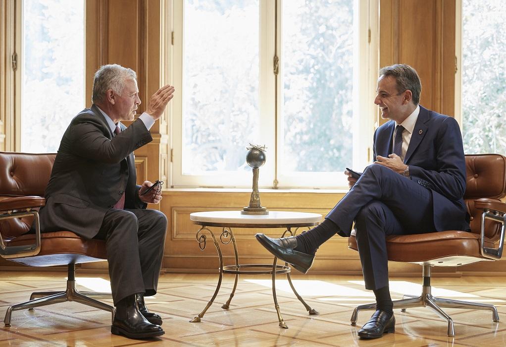 Σημαντική ατζέντα στη συνάντηση του πρωθυπουργού με τον βασιλιά της Ιορδανίας
