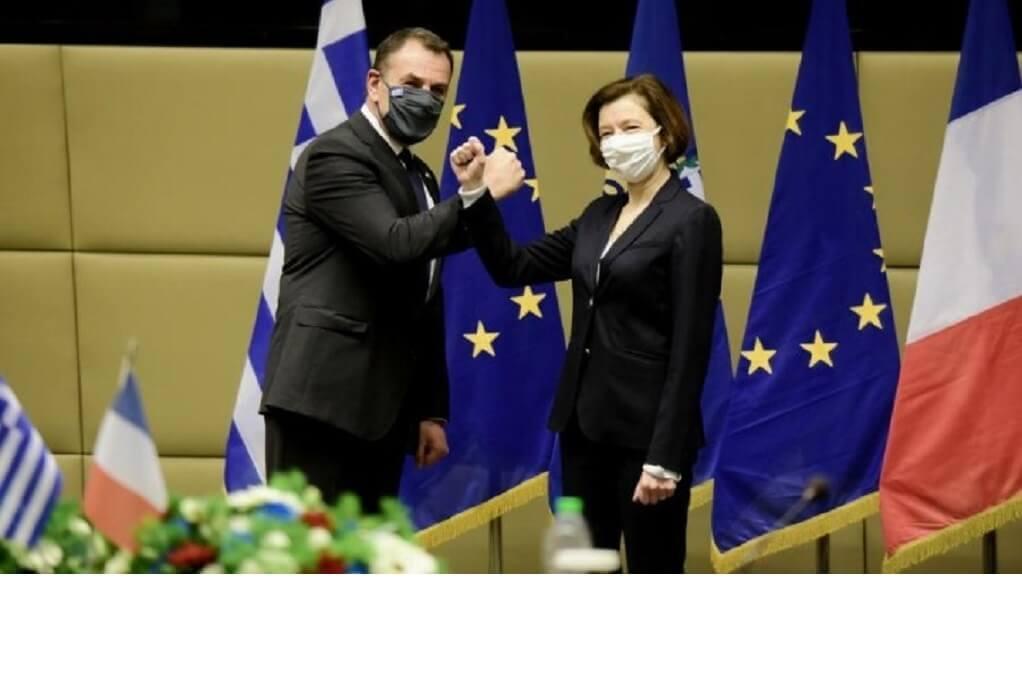 Ο Ν. Παναγιωτόπουλος συναντήθηκε με την υπουργό Άμυνας της Γαλλίας