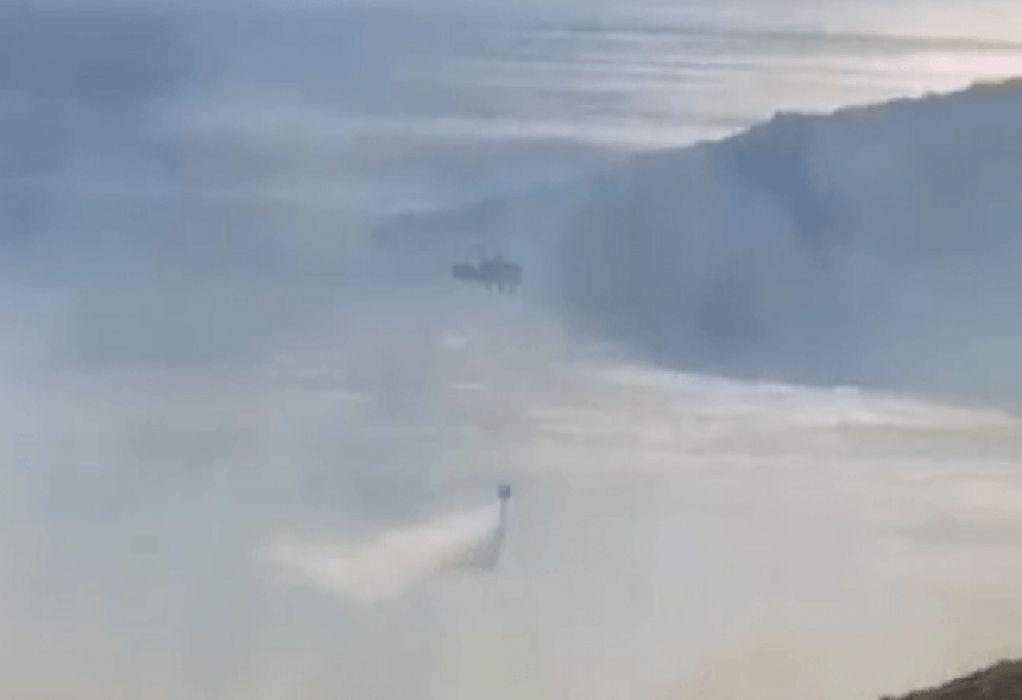 Φωτιά στην Πρέβελη: Καλύτερη η εικόνα – Απομακρύνθηκαν κατασκηνωτές (VIDEO)