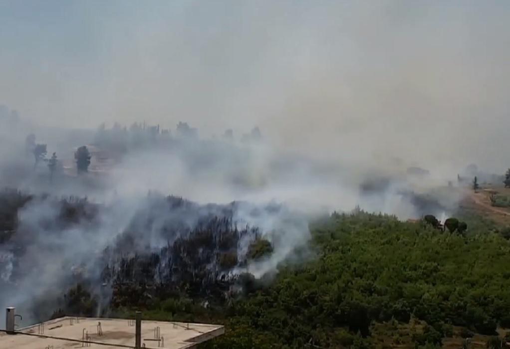 Πυρκαγιά στον Βαρνάβα: Τι έδειξε το drone της Πυροσβεστικής (VIDEO)