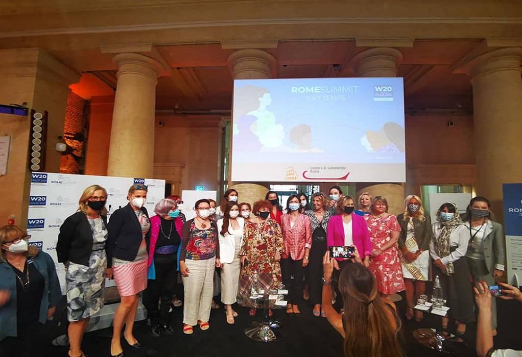 Ο ΣΕΓΕ στη Σύνοδο Κορυφής της Woman 20