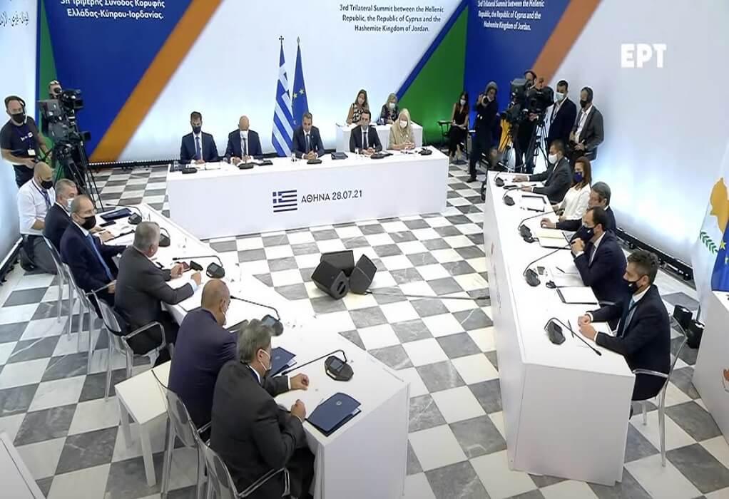 Δείτε LIVE τις δηλώσεις στην Σύνοδο Κορυφής Ελλάδας-Κύπρου-Ιορδανίας στο Ζάππειο