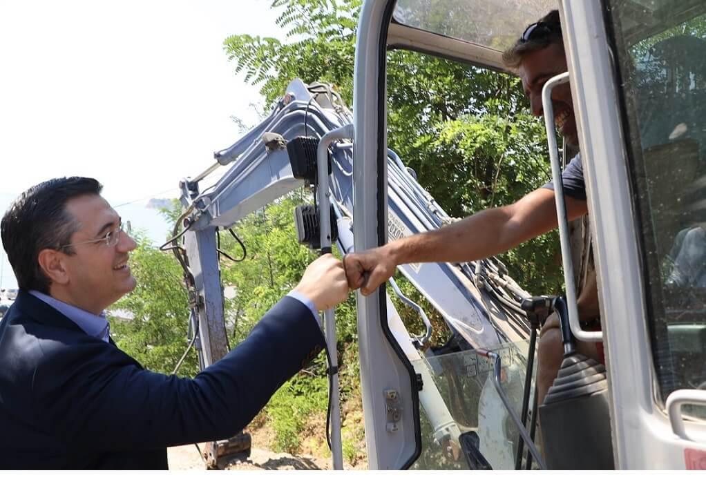 Απόστολος Τζιτζικώστας: Αυτοψία σε έργα υποδομής στην Πιερία