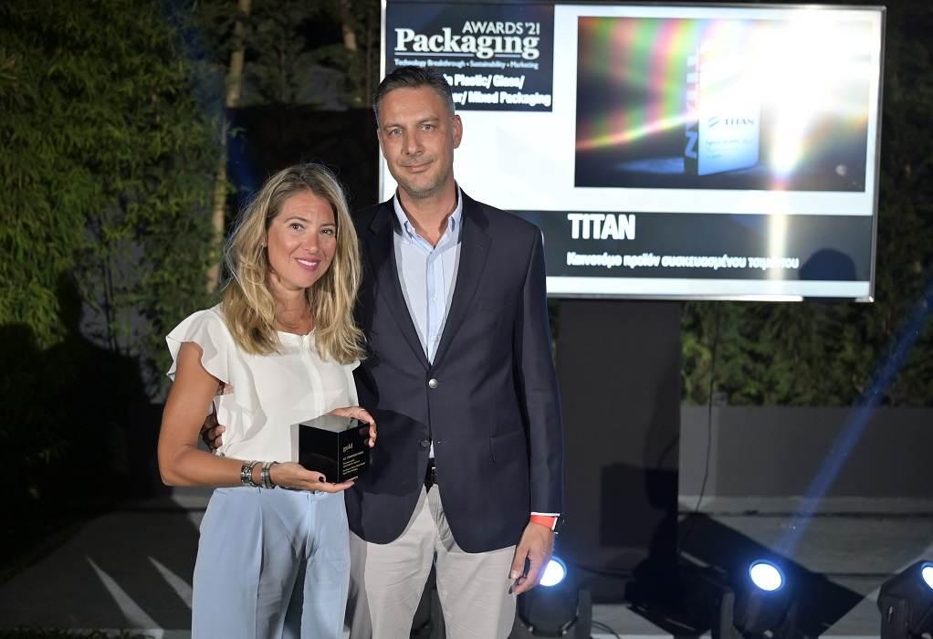 ΤΙΤΑΝ: Χρυσά Βραβεία Innovation και Sustainability στα Packaging Awards 2021
