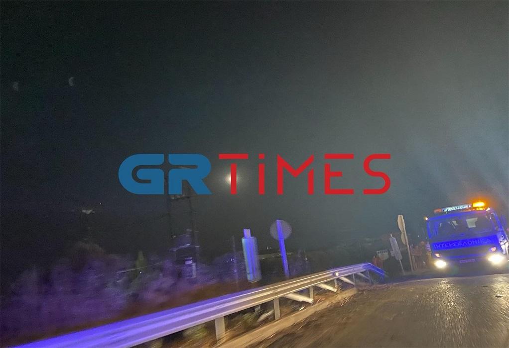 Χαλκιδική: Τροχαίο ατύχημα στην Ποτίδαια (ΦΩΤΟ)