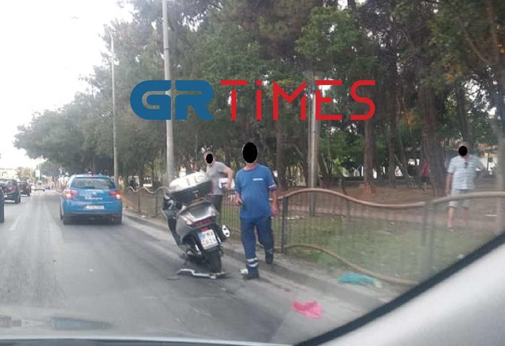 Θεσσαλονίκη: Τροχαίο στο Φοίνικα μεταξύ ΙΧ και δικύκλου