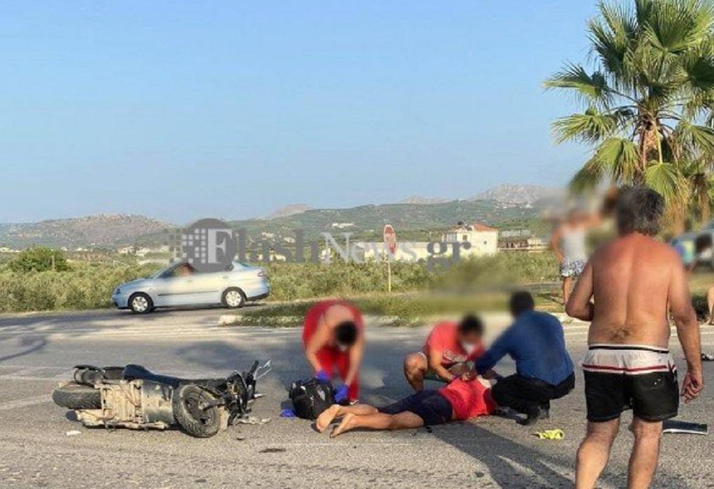 Χανιά: Σοβαρό τροχαίο- Συγκρούστηκαν μετωπικά δύο δίκυκλα (ΦΩΤΟ)