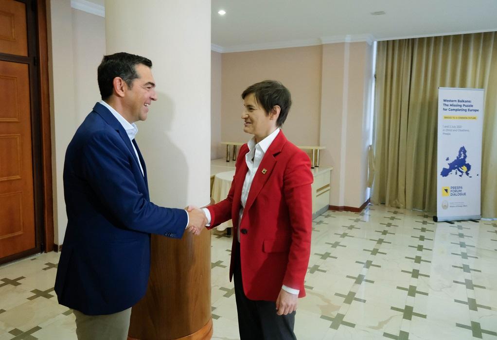 Συνάντηση Αλ. Τσίπρα με την πρωθυπουργό της Σερβίας