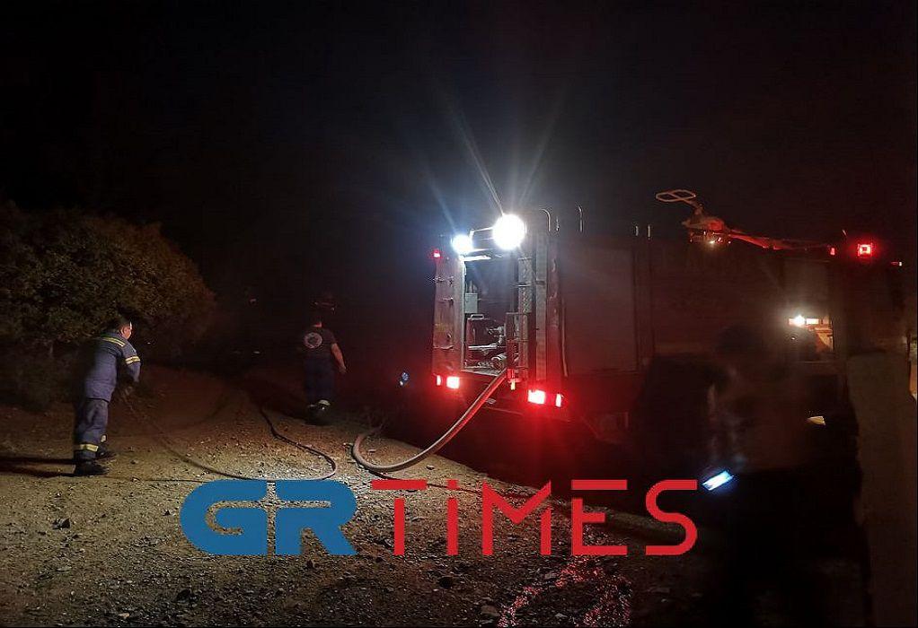 Θεσ/νίκη: Οριοθετήθηκε η φωτιά στη Ν. Ευκαρπία (ΦΩΤΟ-VIDEO)