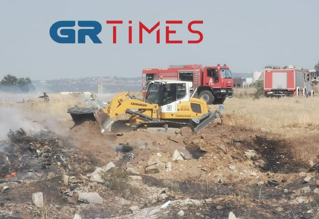 Φωτιά στο Ωραιόκαστρο: Επι ποδός και ο μηχανισμός του δήμου-Τι λέει ο Π. Τσακίρης