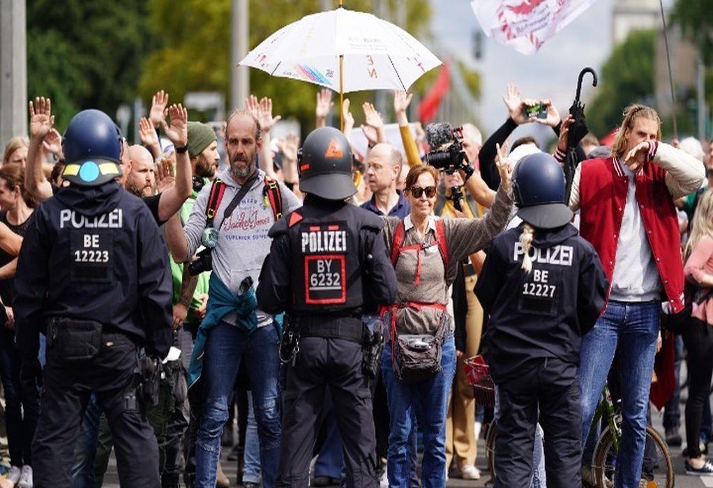 Κορωνοϊός – Γερμανία: Νέα διαδήλωση κατά των μέτρων – 80 προσαγωγές