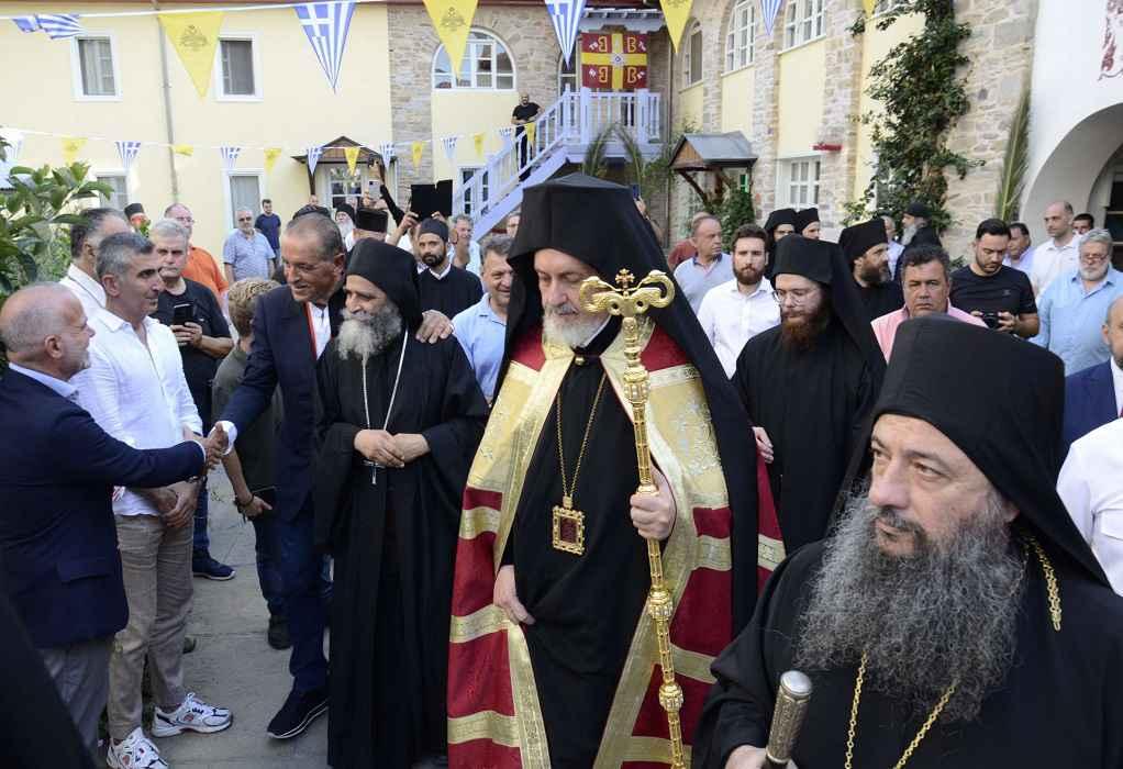 Στην Ιερά Μονή Παντοκράτορος, στο Άγιον Όρος, ο Μητροπολίτης Γέρων Χαλκηδόνος