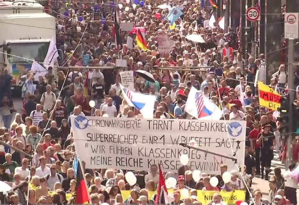 Bερολίνο: Νέα πορεία κατά των μέτρων για τον covid- κόντρα με την αστυνομία