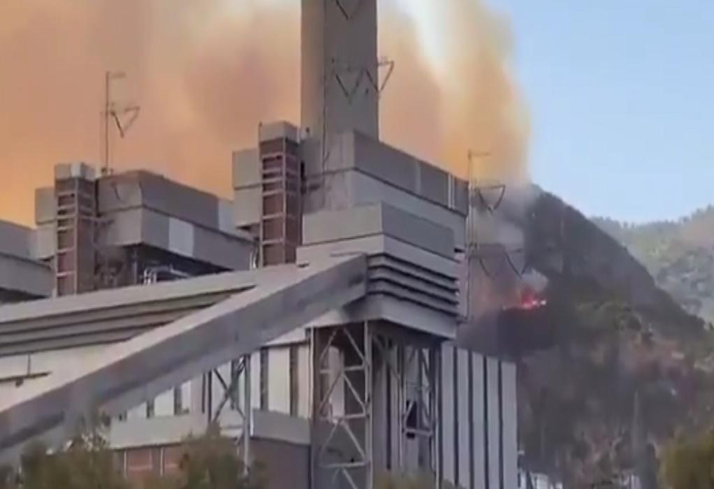 Τουρκία: Φωτιά στον θερμοηλεκτρικό σταθμό του Μιλάς – Συγκλονιστικές εικόνες (VIDEO)