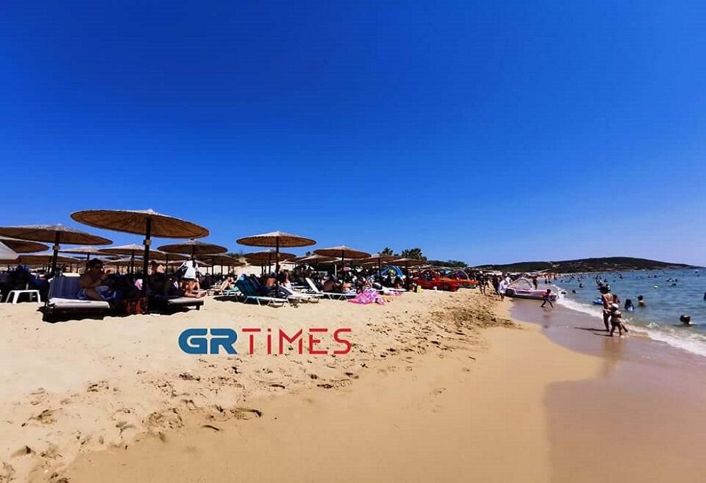 Γέμισαν κόσμο οι παραλίες της Καβάλας (ΦΩΤΟ-VIDEO)