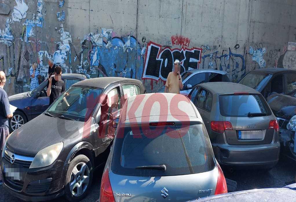 Καραμπόλα αρκετών οχημάτων στα Σίδερα Χαλανδρίου
