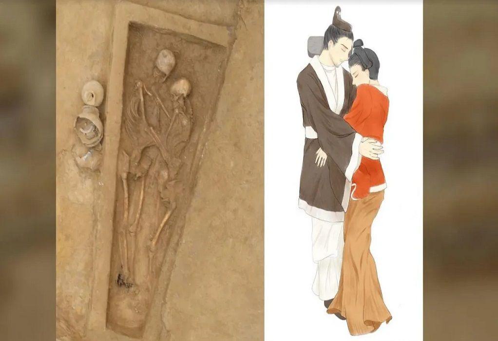 Μια αγκαλιά για έναν αιώνιο έρωτα – Σπάνιο εύρημα στην Κίνα