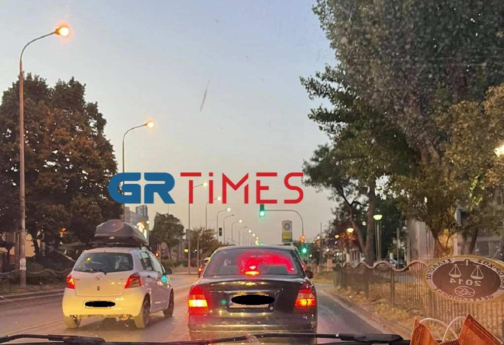 Θεσ/νίκη: Έντονη κίνηση στον δρόμο από αεροδρόμιο (ΦΩΤΟ)