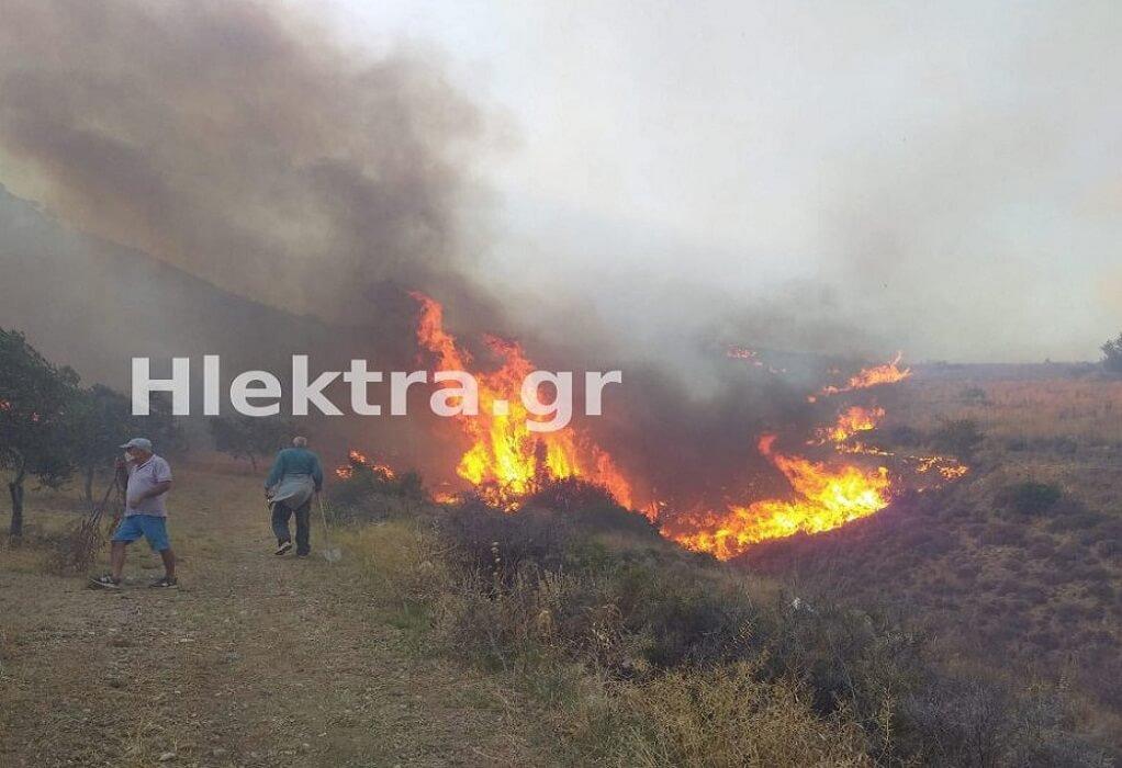 Πυρκαγιά στην Αρχαία Κόρινθο-Εκκενώνεται ο Σολομός (ΦΩΤΟ-VIDEO)
