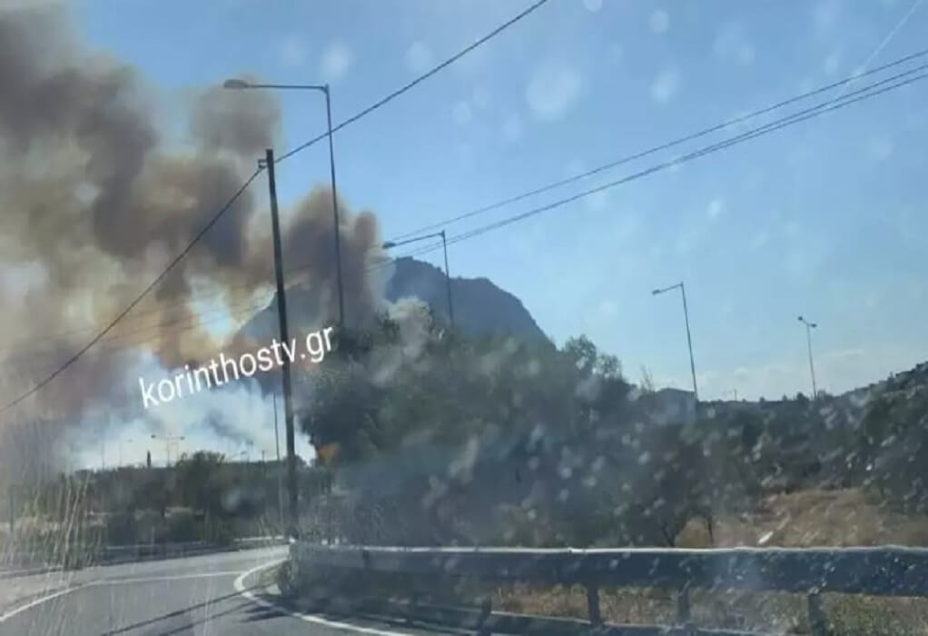 Φωτιά στην Κόρινθο: Μήνυμα 112-Εκκενώνεται ο Σολομός